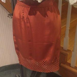 Burnt orange pencil skirt above knee length NWOT